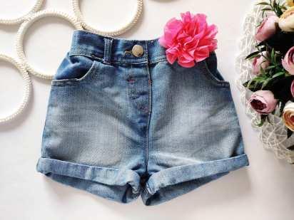 2-4 года, рост 92-104 Джинсовые шорты для девочки