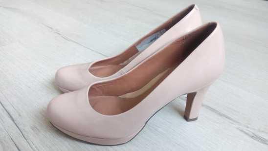 38 (24,5 см) Clarks (Кларкс) Кожа! Кожаные женские туфли