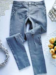 12\13 лет, рост 158 Модные рваные джинсы узкачи для девочки