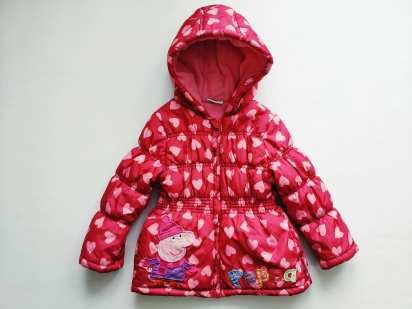 2-3 года, рост 98 Теплая демисезонная курточка Пеппа