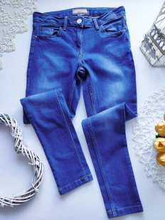 9\10 лет, рост 134-140 Стрейчевые джинсы для девочки