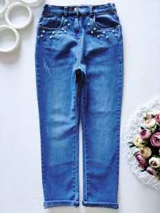 9\10 лет, рост 140 Стрейчевые джинсы для девочки