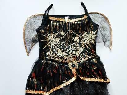 11-12 лет, рост 146-152 НОВОЕ Музикальное и светящееся нарядное платье Паук