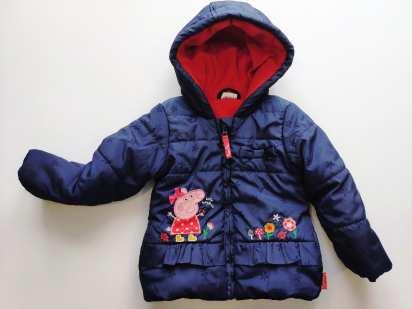 1,5\2 года, рост 86-92 Свинка Пеппа Теплая демисезонная курточка для девочки