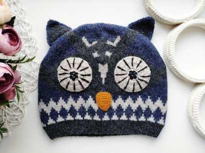 Шерсть Зимняя детская шапка