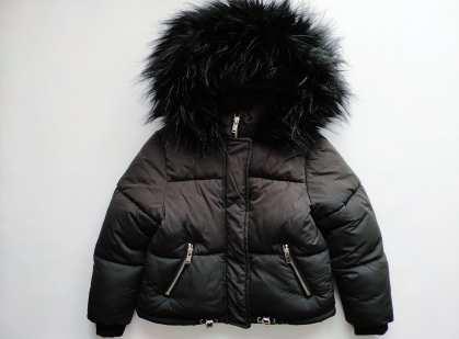 6 лет, рост 116 Зимняя детская куртка