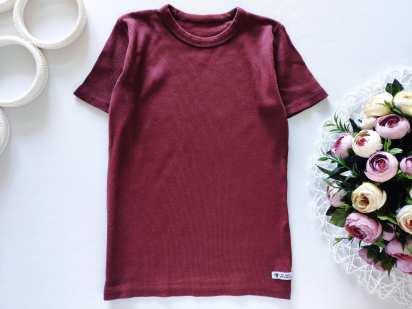 5-6 лет, рост 110-116 Стрейчевая детская футболка