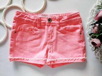 5-6 лет, рост 116 Ярко розовые шорты для девочки под джинс