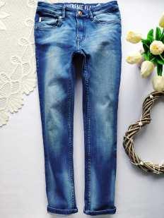 7-8 лет, рост 128 Стрейчевые джинсы для мальчика