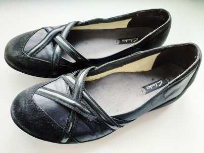 38 (24,5 см) Кожаные женские туфли на низком ходу
