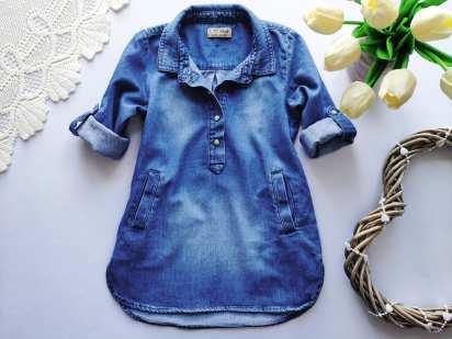 1-2 года, рост 86-92 Легкое джинсовое платье для девочки