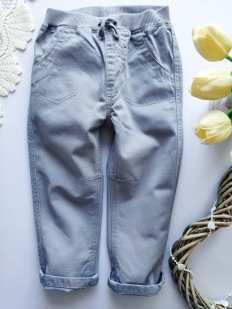 12\18 мес, рост 80,86 Серые котоновые штаны для мальчика