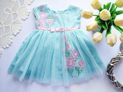 6 мес. Детское нарядное платье для девочки