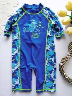 4-5 лет, рост 104-110 Солнцезащитный купальный костюм для мальчика