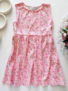 5,6 лет, рост 116 Хлопковое летнее детское платье
