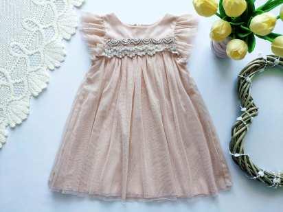9-12 мес, рост 80 Детское нарядное платье на годик