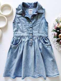 4,5 лет, рост 110 Легкое детское платье под джинс
