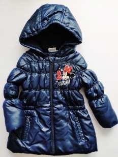 3\4 года, рост 104 Теплая демисезонная курточка для девочки Микки Маус