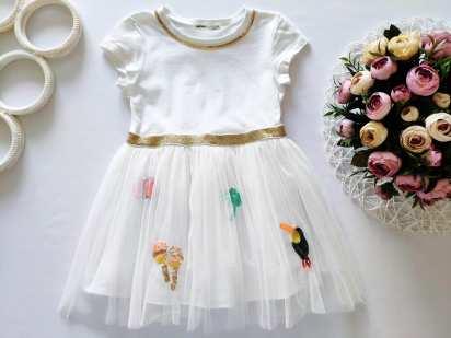 3-4 года, рост 98-104 Нарядное платье для девочки