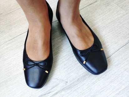 41 (26,5 см) Кожаные женские туфли на низком ходу