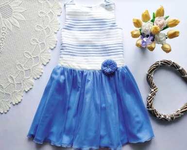 10,11 лет, рост 146 Нарядное платье для девочки