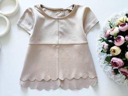 4,5 лет, рост 104-110 Пудровая детская блузочка
