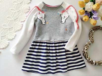 5-6 лет, рост 110-116 Теплое детское платье