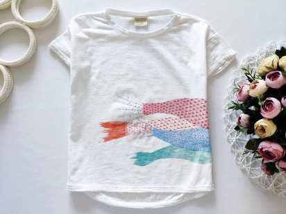 6 лет, рост 116 Воздушная футболка для девочки