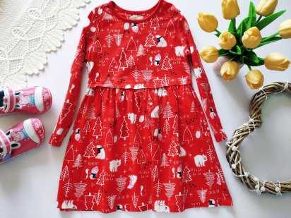 4,5 лет, рост 104-110 Новогоднее детское платье