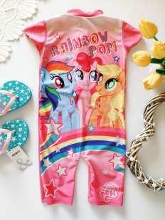 2,3 года, рост 92,98 Солнцезащитный купальный костюм для девочки пони
