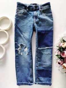4 года, рост 104 Стильные рваные джинсы