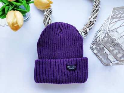 Стрейчевая зимняя шапка на флисе