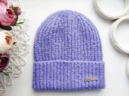 Стрейчевая зимняя шапка