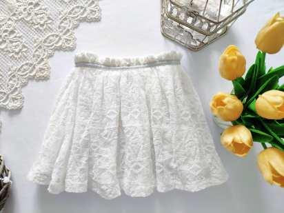 2,3 года, рост 98 Белая ажурная юбка