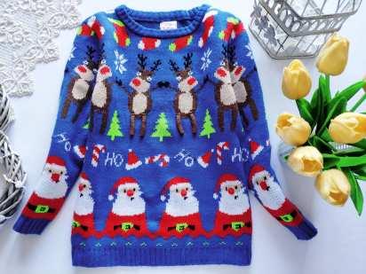 4,5 лет, рост 104,110 Новогодний свитер для мальчика