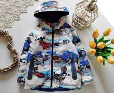 4,5 лет, рост 110 Теплая демисезонная курточка