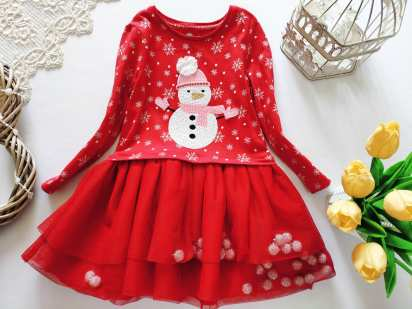 2,3 года, рост 98 Новогоднее детское платье