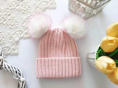5,6 лет Зимняя шапка для девочки