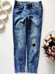 8,9 лет, рост 134 Стрейчевые джинсы скинни