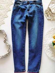 8,9 лет, рост 128,135 Стрейчевые джинсы узкачи для мальчика
