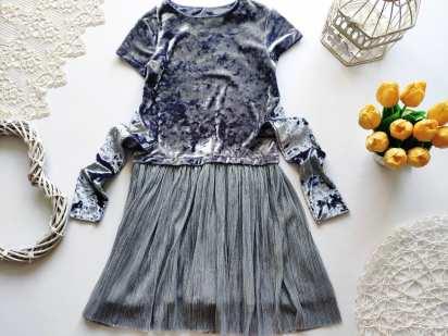 6 лет, рост 116 Велюровое детское платье