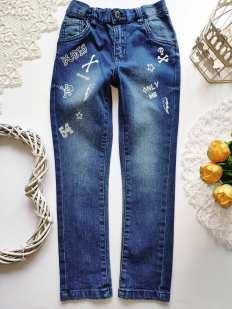 5,6 лет рост 110,116 Стрейчевые джинсы узкачи