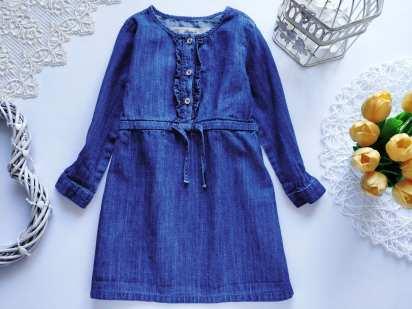 4-5 лет, рост 110 Джинсовое платье для девочки
