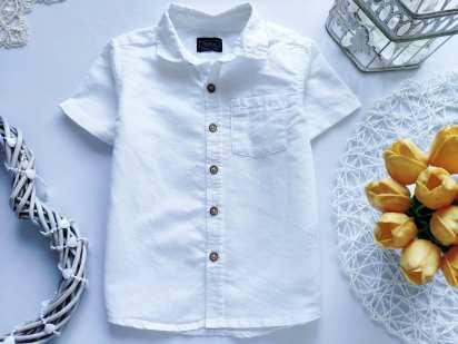 1,5\2 года, рост 92 Белая рубашка для мальчика