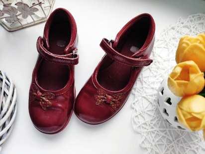 29 (19 см) Мигалки! Кожаные бордовые туфли