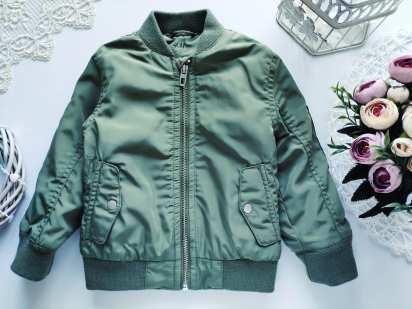 1,5\2 года, рост 92 Демисезонная куртка бомбер для мальчика
