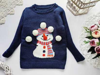 18-24 мес, рост 86-92 Новый новогодний свитер со снеговиком