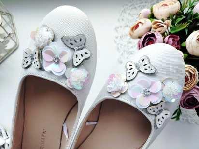 34-35 (21,5 см) Новые блестящие детские туфли