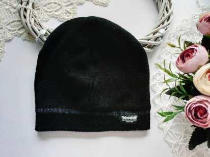 3,4 года Черная теплая шапка на флисе