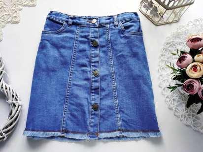 9,10 лет, рост 140 Стрейчевые джинсовая юбка